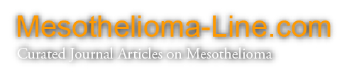 Mesothelioma Line: Curated journal articles on mesothelioma.